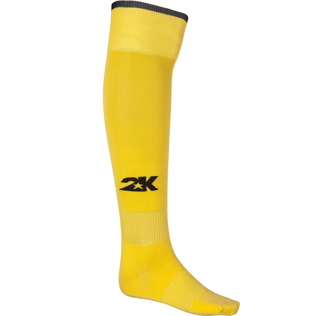 Гетры футбольные 2K Sport Classic, цвет: желтый, черный. 120334. Размер 36/40
