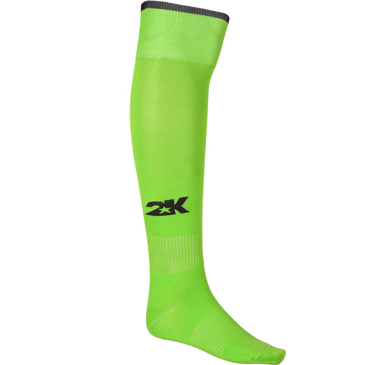Гетры футбольные 2K Sport Classic, цвет: светло-зеленый, черный. 120334. Размер 36/40