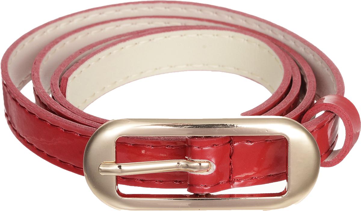 Ремень женский Vittorio Richi, цвет: красный. 4409-21/15z. Размер 1154409-21/15zЭлегантный тонкий ремень Vittorio Richi выполнен из высококачественной лакированной экокожи. Пряжка, выполненная из металла, позволит легко и быстро зафиксировать ремень и отрегулировать его длину. Уважаемые клиенты! Обращаем ваше внимание на тот факт, что размер ремня, доступный для заказа, является его длиной.
