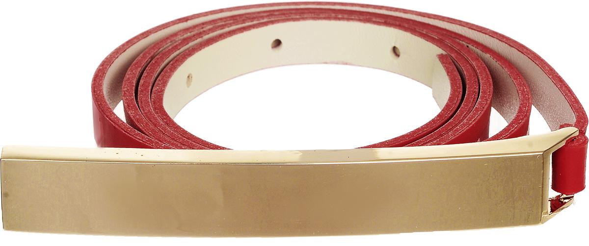 Ремень женский Vittorio Richi, цвет: красный. 4409-24/10z. Размер 1154409-24/10zЭлегантный тонкий ремень Vittorio Richi выполнен из высококачественной лаковой экокожи. Пряжка, выполненная из металла, позволит легко и быстро зафиксировать ремень и отрегулировать его длину. Уважаемые клиенты! Обращаем ваше внимание на тот факт, что размер ремня, доступный для заказа, является его длиной.