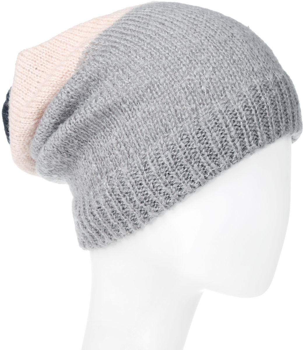 Шапка женская Wrangler, цвет: черный, серый, розовый. W0M11UGRJ. Размер 56W0M11UGRJЖенская шапка Wrangler выполнена из сочетания акрила, полиамида, мохера и шерсти. Модель оформлена мелкой вязкой контрастных цветов. По низу изделие дополнено вязаной резинкой.Уважаемые клиенты!Размер, доступный для заказа,является обхватом головы.
