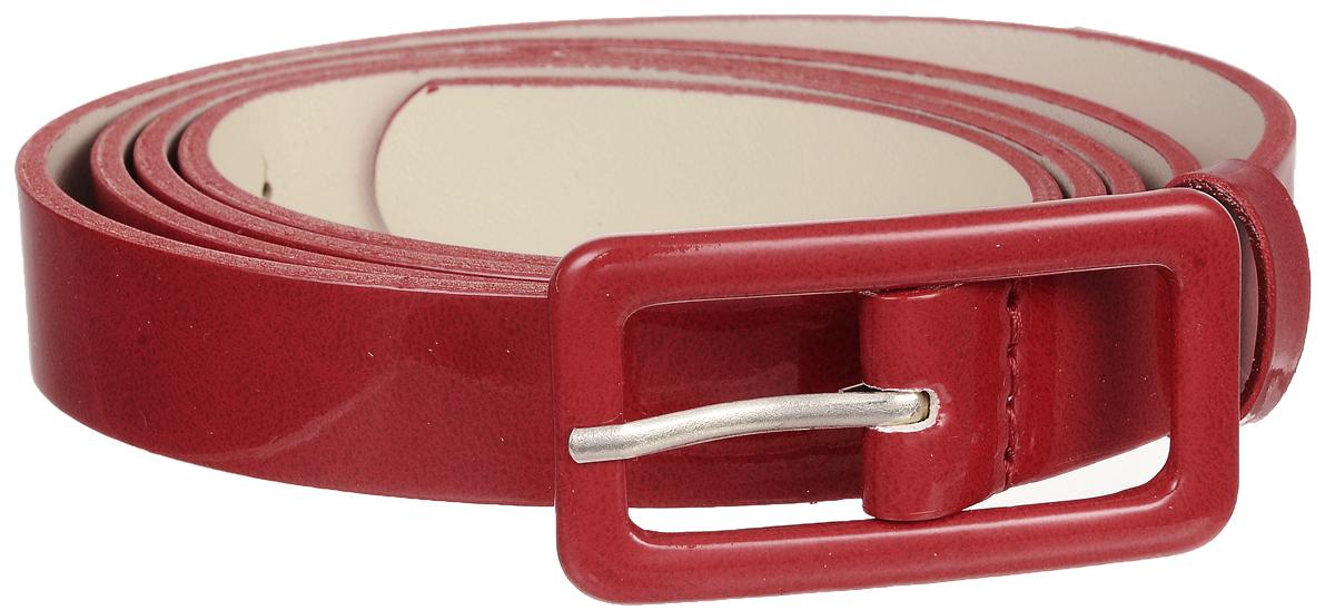 Ремень женский Vittorio Richi, цвет: красный. 2214-3/20. Размер 1152214-3/20Элегантный тонкий ремень Vittorio Richi выполнен из высококачественной лакированной экокожи. Пряжка, выполненная из металла, позволит легко и быстро зафиксировать ремень и отрегулировать его длину. Уважаемые клиенты! Обращаем ваше внимание на тот факт, что размер ремня, доступный для заказа, является его длиной.