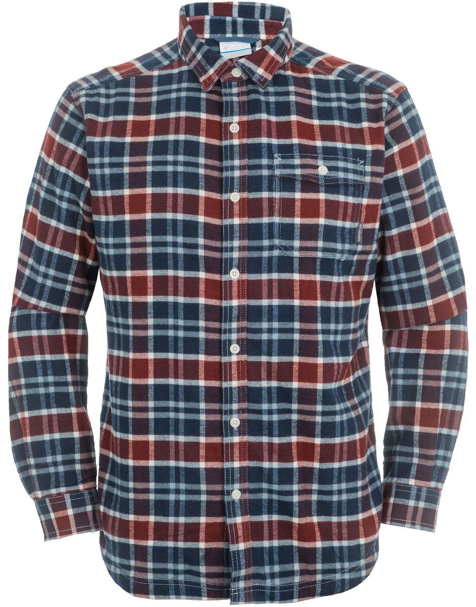 Рубашка мужская Columbia Flare Gun Flannel Lined Shirt, цвет: синий, бордовый. 1555581-837. Размер L (48/50)1555581-837Классическая мужская рубашка Columbia с длинными рукавами из мягкого хлопка. Модель незаменима для активного отдыха и прогулок. Изделие прямого кроя, имеется нагрудный накладной карман.