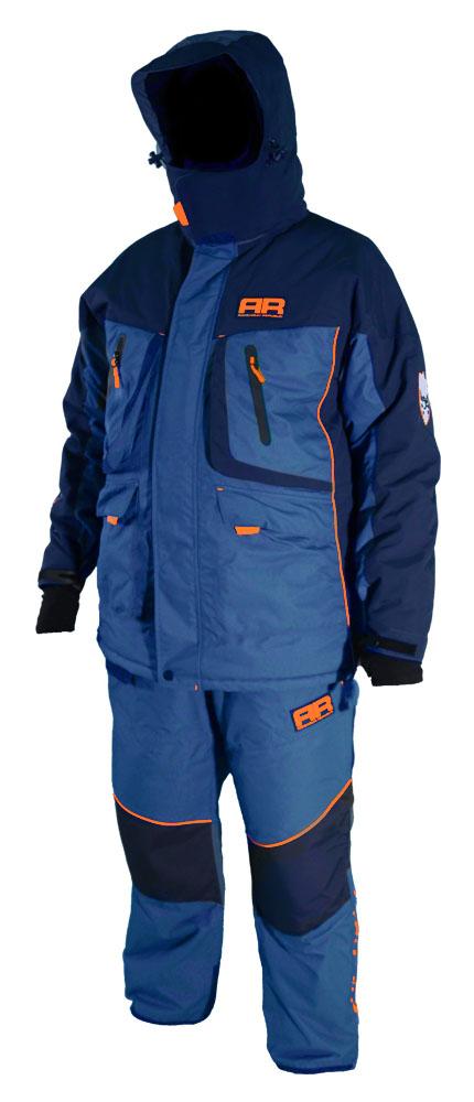 Костюм рыболовный Adrenalin Republic Rover -35, цвет: синий, кобальт. 78136. Размер XXL (54/56)Rover -35Температурный режим костюма -35 градусов, комфорт при этом обеспечивается за счет инновационного слоя утепления. На куртке имеются два врезных боковых кармана, для размещения полезных вещей и согревания рук.Куртка:Проклеенные швыСпециальная конструкция подкладки с зонами, улучшающими отвод влагиКапюшон крепится с помощью замка - молнииВетрозащитная юбкаУдобные карманы внутри и снаружиТеплый карман для мобильного телефонаЭластичные неопреновые манжетыБоковые шлицы на молнииПодкладка из флисаСветоотражающие нашивки безопасностиПолукомбинезон:Регулируемые лямкиПодкладка из флисаУсиление материала в области колен и седалищаВнутренние снегозащитные гетрыМатериал: Водонепроницаемость 7000ммДышащая способность материала: 10000г/м3/24 часУтеплитель: 200г/м2
