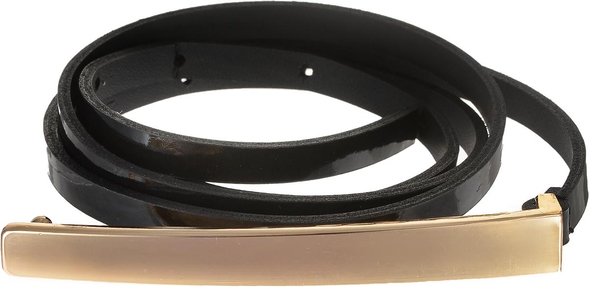 Ремень женский Vittorio Richi, цвет: черный. 4413-24/10z.4413-24/10zЭлегантный тонкий ремень Vittorio Richi выполнен из высококачественной лаковой экокожи. Пряжка, выполненная из металла, позволит легко и быстро зафиксировать ремень и отрегулировать его длину. Уважаемые клиенты! Обращаем ваше внимание на тот факт, что размер ремня, доступный для заказа, является его длиной.