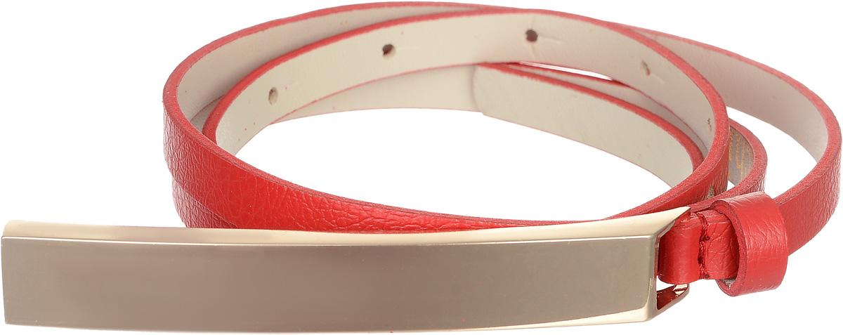 Ремень женский Vittorio Richi, цвет: красный. 4403-24/10z. Размер 1154403-24/10zЭлегантный тонкий ремень Vittorio Richi выполнен из высококачественной экокожи зернистой текстуры. Пряжка, выполненная из металла, позволит легко и быстро зафиксировать ремень и отрегулировать его длину. Уважаемые клиенты! Обращаем ваше внимание на тот факт, что размер ремня, доступный для заказа, является его длиной.