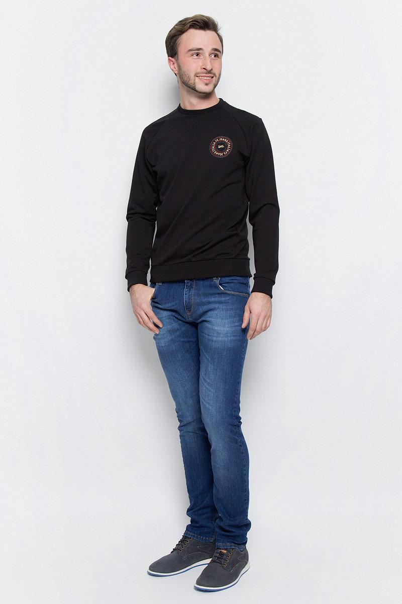 Джинсы мужские F5, цвет: синий. 265033_09618. Размер 31-34 (46/48-34)265033_09618_Blue denim 1260 str., w.mediumСтильные джинсы классического кроя и средней посадки изготовлены из высококачественного эластичного хлопка. Застегиваются джинсы на пуговицу в поясе и ширинку на молнии, имеются шлевки для ремня. Спереди модель дополнена двумя втачными карманами и одним небольшим секретным кармашком, а сзади - двумя накладными карманами.