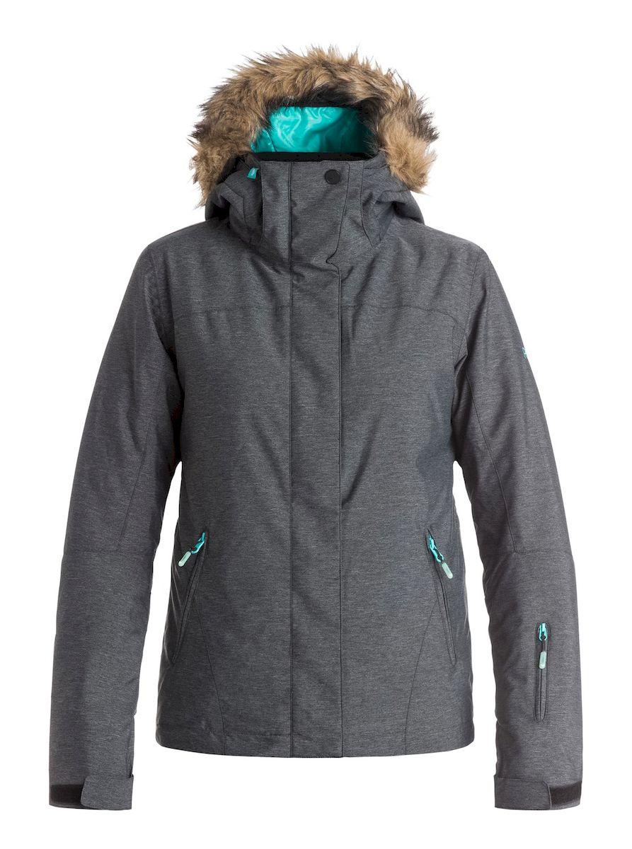 Куртка для сноуборда женская Roxy Jet Ski Textured, цвет: серый. ERJTJ03057-KVJ0. Размер S (42/44)ERJTJ03057-KVJ0Женская куртка для сноуборда выполнена из полиэстера с утеплителем Warmflight (тело 120 г, рукава 100 г, капюшон 60 г). Подкладка из тафты со вставками из трикотажа с начесом. Критические швы проклеены. Съемный капюшон регулируется тремя способами, оформлен оторочкой из искусственного меха. Фиксированная противоснежная юбка из тафты с удобными кнопками. Система пристегивания куртки к штанам. Подкладка в районе подбородка. Куртка дополнена нагрудным карманом, внутренним медиакарманом, внутренним карманом для маски, брелоком для ключей. Лайкровые гейтеры в рукавах. Кармашек для скипасса на рукаве. Сеточная вентиляция подмышками. Карманы с теплой подкладкой.