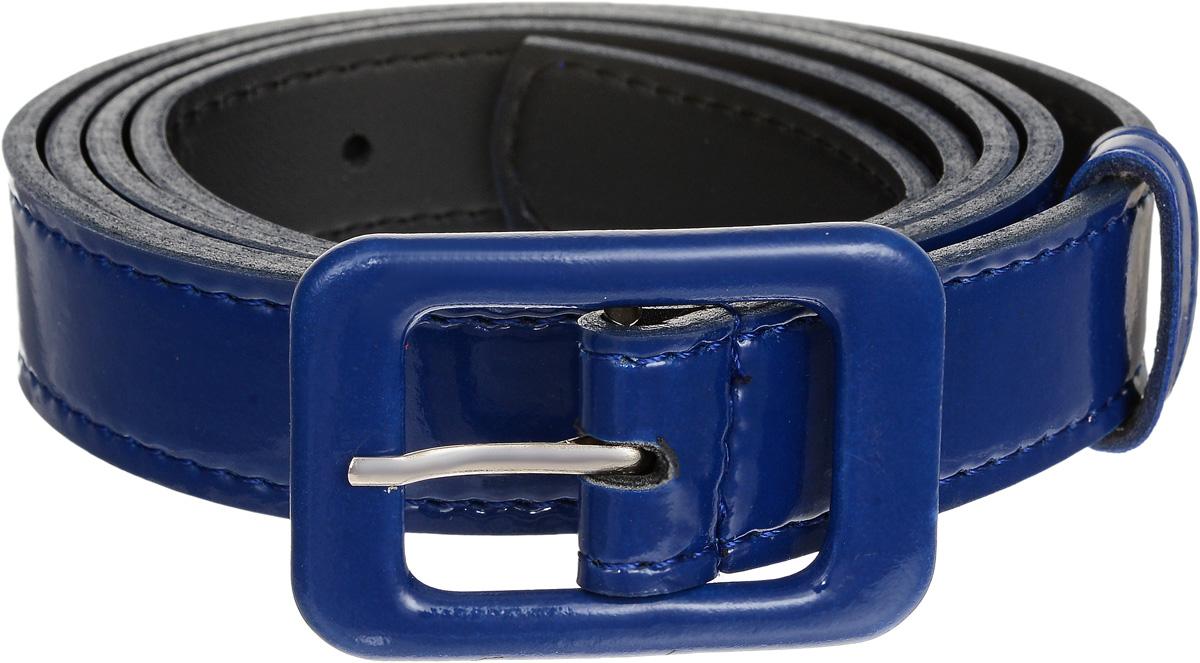 Ремень женский Vittorio Richi, цвет: темно-синий. 2213-4/25. Размер 1152213-4/25Стильный ремень Vittorio Richi выполнен из высококачественной лаковой экокожи. Металлическая пряжка, оформленная накладкой из экокожи, позволит легко и быстро зафиксировать ремень и отрегулировать его длину. Уважаемые клиенты! Обращаем ваше внимание на тот факт, что размер ремня, доступный для заказа, является его длиной.