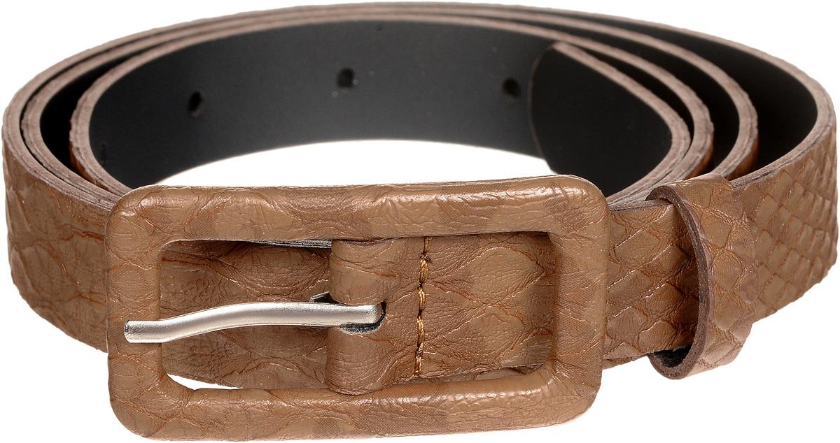 Ремень женский Vittorio Richi, цвет: коричневый. 22082939-7-3/20. Размер 11522082939-7-3/20Металлическая пряжка, оформленная накладкой из экокожи, позволит легко и быстро зафиксировать ремень и отрегулировать его длину. Уважаемые клиенты! Обращаем ваше внимание на тот факт, что размер ремня, доступный для заказа, является его длиной.