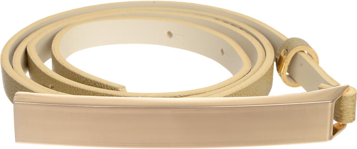 Ремень женский Vittorio Richi, цвет: золотистый. 4401-24/10z. Размер 1154401-24/10zСтильный ремень Vittorio Richi выполнен из высококачественной экокожи зернистой текстуры. Пряжка, выполненная из металла, позволит легко и быстро зафиксировать ремень и отрегулировать его длину. Уважаемые клиенты! Обращаем ваше внимание на тот факт, что размер ремня, доступный для заказа, является его длиной.