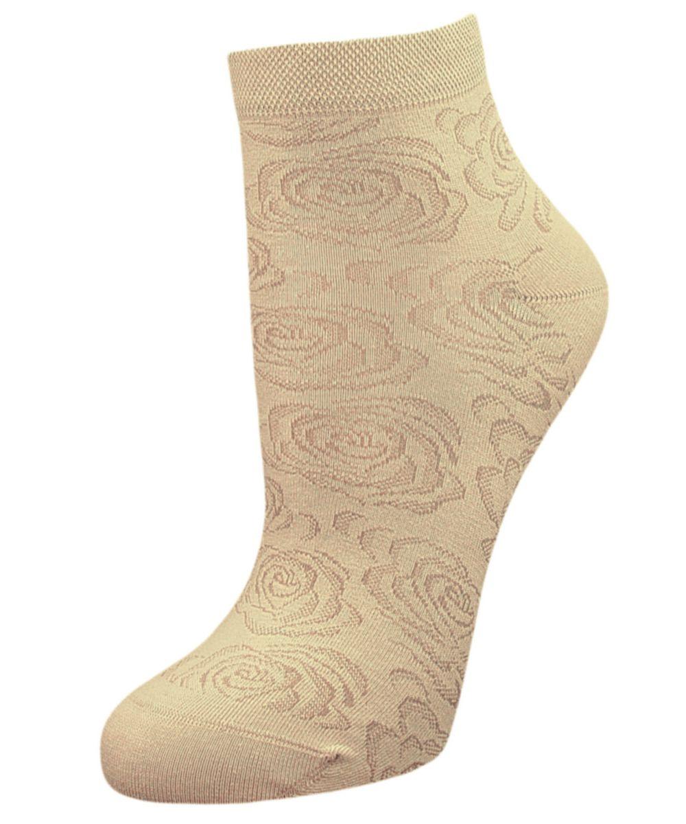 Носки женские Гранд, цвет: бежевый, 2 пары. SCL37. Размер 23/25SCL37Женские носки Гранд выполнены из высококачественного хлопка, предназначены для повседневной носки. Укороченные носки оформлены рисунком розочки. Носки долгое время сохраняют форму и цвет, а так же обладают антибактериальными и терморегулирующими свойствами.