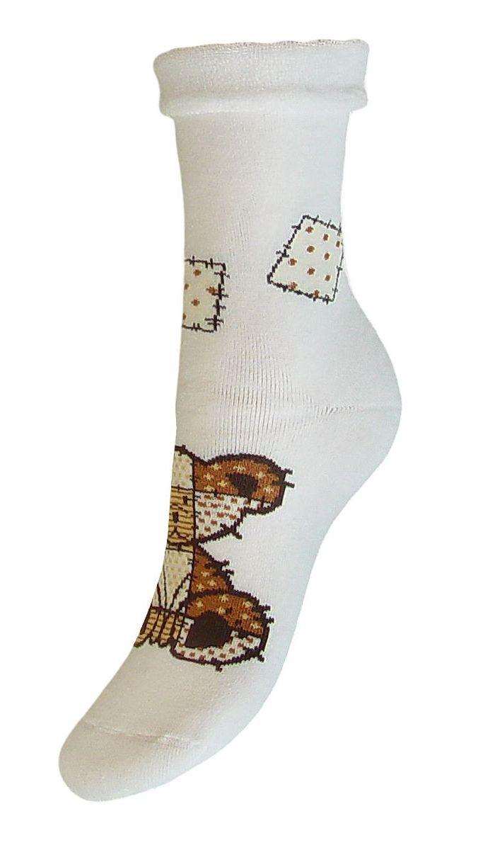 Носки женские Гранд, цвет: белый, 2 пары. SCL79. Размер 23/25SCL79Женские носки Гранд выполнены из высококачественного хлопка. Носки, оформленные по центру рисунком медвежонок, изготовлены по европейским стандартам из лучшей гребенной пряжи, предназначены для повседневной носки. Они имеют безупречный внешний вид, усиленные пятку и мысок для повышенной износостойкости, после стирки не меняют цвет. Используя европейские стандарты на современных вязальных автоматах, компания Гранд предоставляет покупателю высокое качество изготавливаемой продукции.