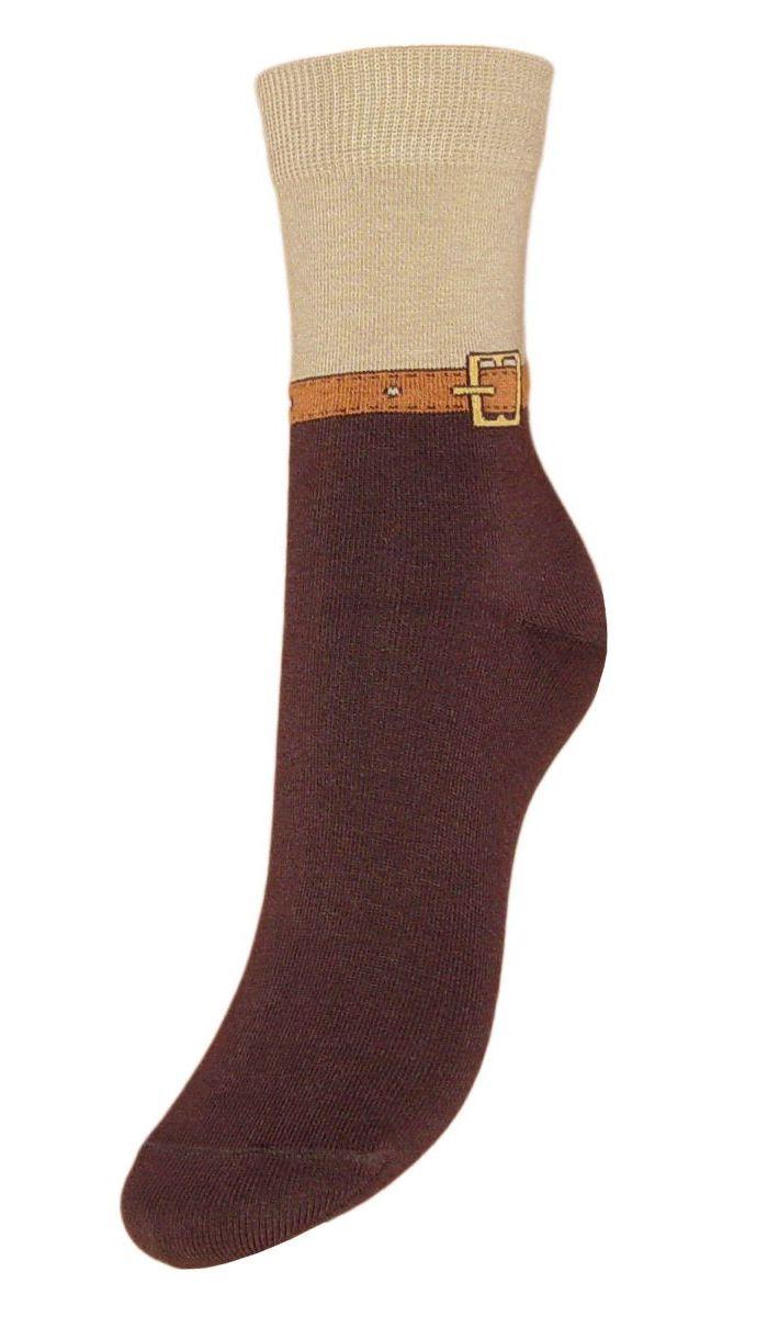 Носки женские Гранд, цвет: коричневый, 2 пары. SCL59. Размер 23/25SCL59Женские носки Гранд выполнены из высококачественного хлопка, предназначены для повседневной носки. Носки, оформленные на паголенке рисунком ремешок, изготовлены по европейским стандартам из самой лучшей гребенной пряжи, имеют безупречный внешний вид, усиленные пятку и мысок для повышенной износостойкости, после стирки не меняют цвет. Функция отвода влаги позволяет сохранить ноги сухими. Благодаря свойствам эластана, не теряют первоначальный вид. Носки долгое время сохраняют форму и цвет, а так же обладают антибактериальными и терморегулирующими свойствами.