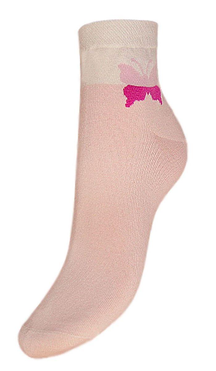 Носки женские Гранд, цвет: розовый, 2 пары. SCL24. Размер 23/25SCL24Женские носки Гранд выполнены из высококачественного хлопка, предназначены для повседневной носки. Носки с бесшовной технологией зашивки мыска (кеттельный шов), оформленные на паголенке текстурным рисунком бабочка, изготовлены по европейским стандартам из лучшей гребенной пряжи, хорошо держат форму и обладают повышенной воздухопроницаемостью, имеют безупречный внешний вид, усиленные пятку и мысок для повышенной износостойкости, после стирки не меняют цвет. Благодаря свойствам эластана, не теряют первоначальный вид. Носки произведены по европейским стандартам на современных итальянских вязальных автоматах Busi Giovanni.