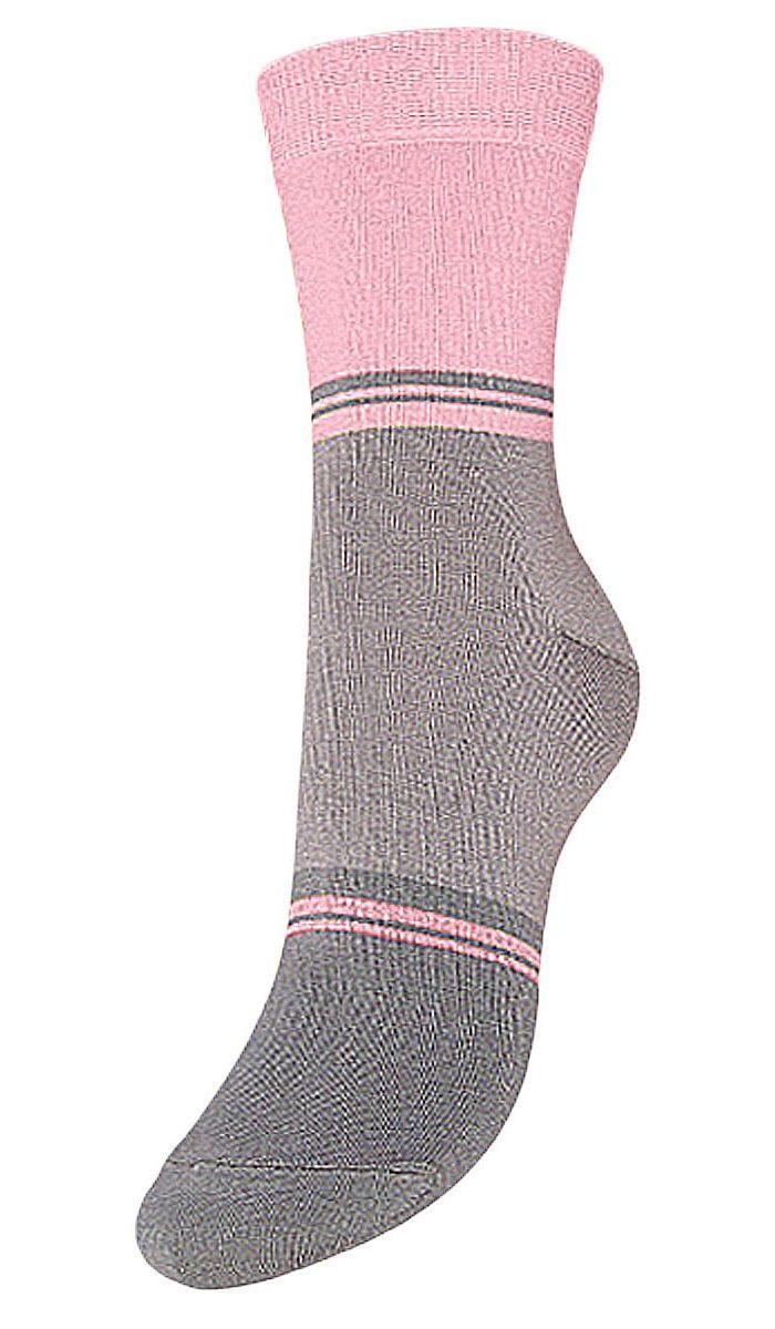 Носки женские Гранд, цвет: серый, розовый, 2 пары. SCL40. Размер 23/25SCL40Женские носки Гранд выполнены из высококачественного хлопка, предназначены для повседневной носки. Носки с бесшовной технологией зашивки мыска (кеттельный шов) хорошо держат форму и обладают повышенной воздухопроницаемостью, имеют безупречный внешний вид, усиленные пятку и мысок для повышенной износостойкости, после стирки не меняют цвет. Благодаря свойствам эластана, не теряют первоначальный вид. Носки долгое время сохраняют форму и цвет, а так же обладают антибактериальными и терморегулирующими свойствами.