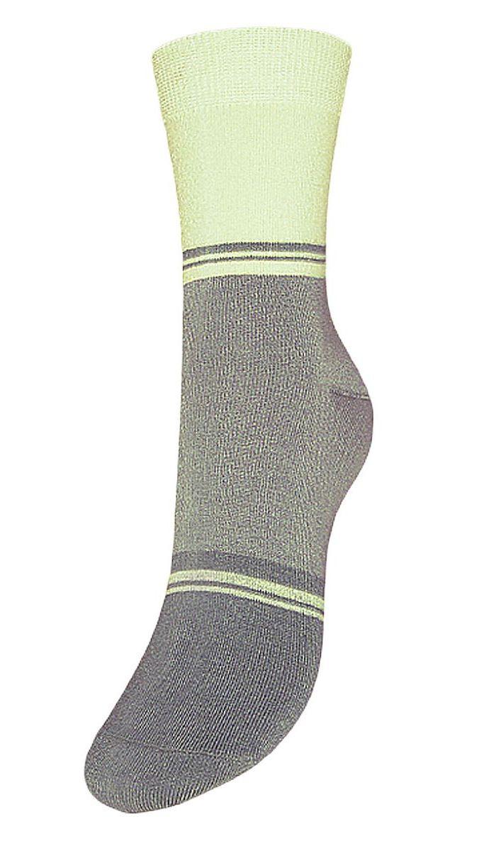 Носки женские Гранд, цвет: серый, салатовый, 2 пары. SCL40. Размер 23/25SCL40Женские носки Гранд выполнены из высококачественного хлопка, предназначены для повседневной носки. Носки с бесшовной технологией зашивки мыска (кеттельный шов) хорошо держат форму и обладают повышенной воздухопроницаемостью, имеют безупречный внешний вид, усиленные пятку и мысок для повышенной износостойкости, после стирки не меняют цвет. Благодаря свойствам эластана, не теряют первоначальный вид. Носки долгое время сохраняют форму и цвет, а так же обладают антибактериальными и терморегулирующими свойствами.