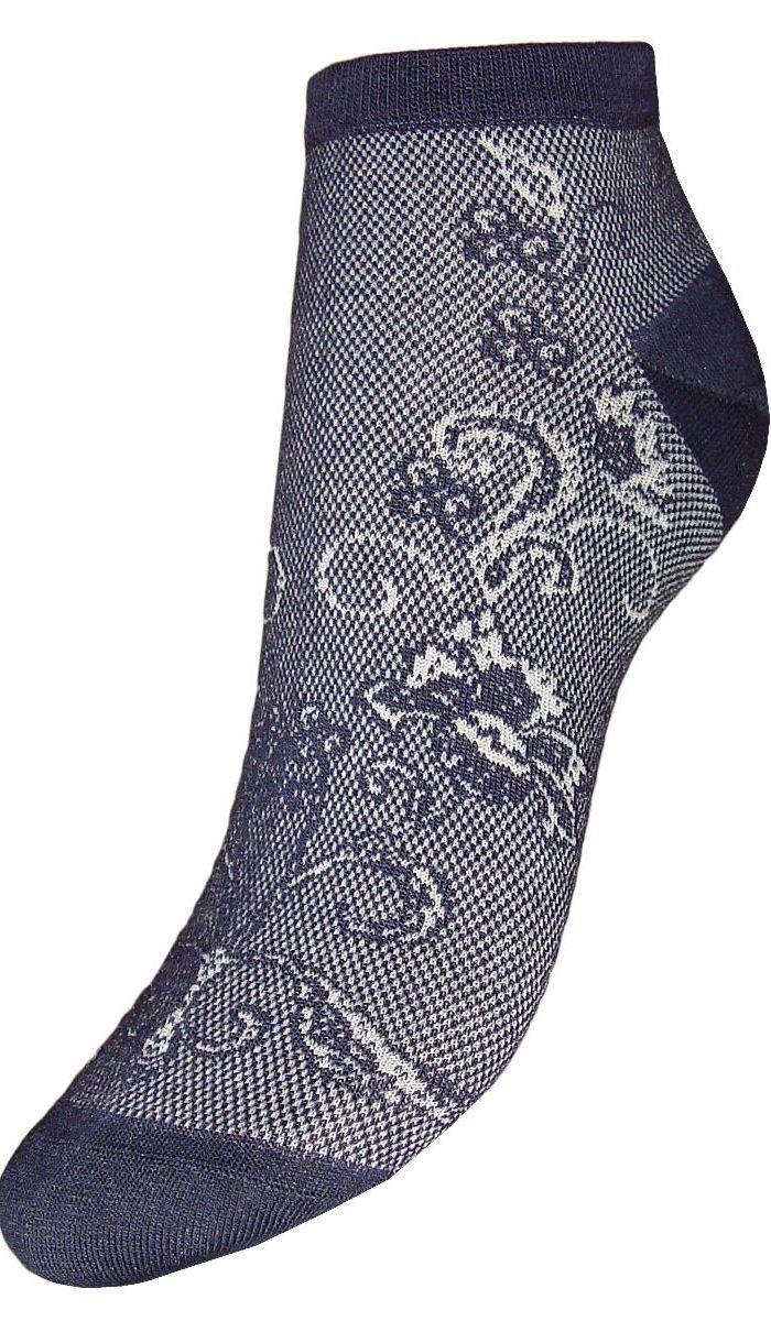 Носки женские Гранд, цвет: темно-синий, 2 пары. SCL85. Размер 23/25SCL85Женские укороченные носкиГранд выполнены из высококачественного хлопка. Носки с бесшовной технологией зашивки мыска (кеттельный шов) хорошо держат форму и обладают повышенной воздухопроницаемостью, после стирки не меняют цвет, имеют усиленные пятку и мысок для повышенной износостойкости. Благодаря свойствам эластана, не теряют первоначальный вид. Носки изготовлены из лучшей гребенной пряжи. Носки произведены по европейским стандартам на современных итальянских вязальных автоматах Busi Giovanni.