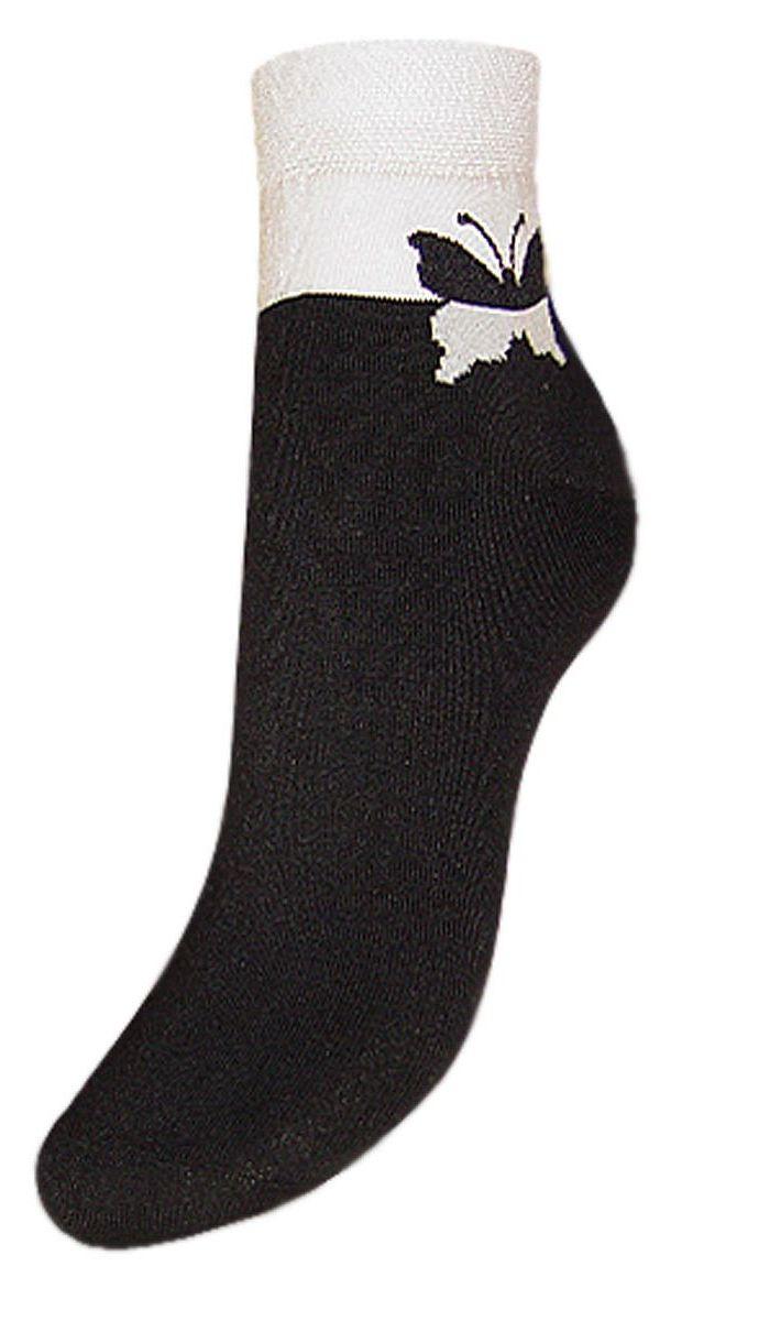 Носки женские Гранд, цвет: черный, 2 пары. SCL24. Размер 23/25SCL24Женские носки Гранд выполнены из высококачественного хлопка, предназначены для повседневной носки. Носки с бесшовной технологией зашивки мыска (кеттельный шов), оформленные на паголенке текстурным рисунком бабочка, изготовлены по европейским стандартам из лучшей гребенной пряжи, хорошо держат форму и обладают повышенной воздухопроницаемостью, имеют безупречный внешний вид, усиленные пятку и мысок для повышенной износостойкости, после стирки не меняют цвет. Благодаря свойствам эластана, не теряют первоначальный вид. Носки произведены по европейским стандартам на современных итальянских вязальных автоматах Busi Giovanni.