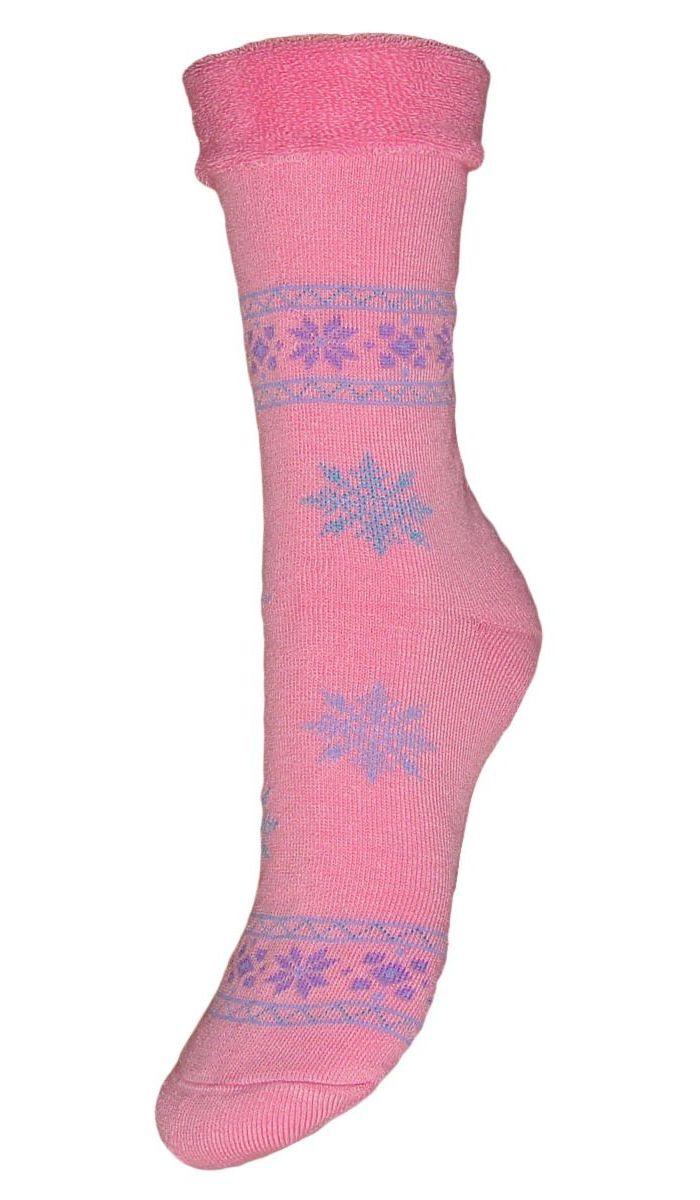 Носки женские махровые Гранд, цвет: розовый, 2 пары. SC29M. Размер 23SC29MМахровые женские носки Гранд изготовлены из высококачественного хлопка с добавлением полиамидных и эластановых волокон, они обладают антибактериальными и теплоизолирующими свойствами, хорошо впитывают влагу, не садятся и не деформируются. Изделие оформлено интересным принтом в виде узоров и снежинок. Мягкая резинка с компрессионным эффектом идеально облегает ногу. Мысок и пятка усилены. В комплект входят две пары носков.