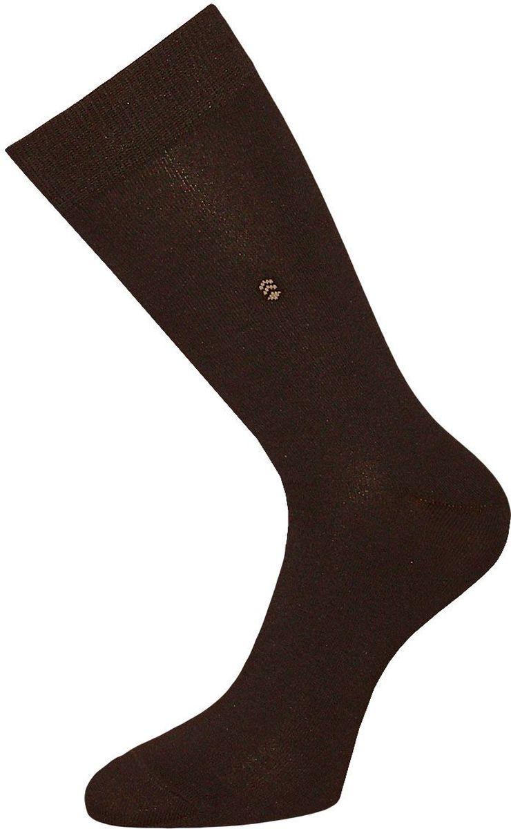 Носки мужские Гранд, цвет: темно-коричневый, 2 пары. ZCL110. Размер 27/29ZCL110Мужские носки Гранд выполнены из хлопка и оформлены мелким рисунком на паголенке, для повседневной носки. Носки с бесшовной технологией зашивки мыска (кеттельный шов) хорошо держат форму и обладают повышенной воздухопроницаемостью, после стирки не меняют цвет, имеют безупречный внешний вид, усиленные пятку и мысок для повышенной износостойкости, благодаря свойствам эластана, не теряют первоначальный вид. Носки произведены по европейским стандартам на современных вязальных автоматах.