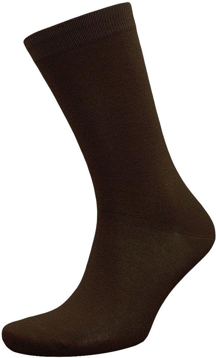 Носки мужские Гранд, цвет: темно-коричневый, 2 пары. ZCL98. Размер 25/27ZCL98Мужские носки Гранд выполнены из хлопка, для повседневной носки. Основа материала - высококачественный хлопок. Носки хорошо держат форму и обладают повышенной воздухопроницаемостью, не линяют после многочисленных стирок, имеют кеттельный шов, мягкую анатомическую резинку. Носки произведены по европейским стандартам на современных вязальных автоматах.