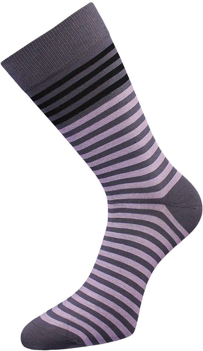 Носки мужские Гранд, цвет: серый, сиреневый, 2 пары. ZCL85. Размер 29/31ZCL85Классические мужские носки Гранд выполнены из высококачественного хлопка, для повседневной носки. Носки имеют кеттельный шов (плоский), усиленные пятку и мысок, анатомическую резинку. Модель оформлена полосками. Носки долгое время сохраняют форму и цвет, а так же обладают антибактериальными и терморегулирующими свойствами.