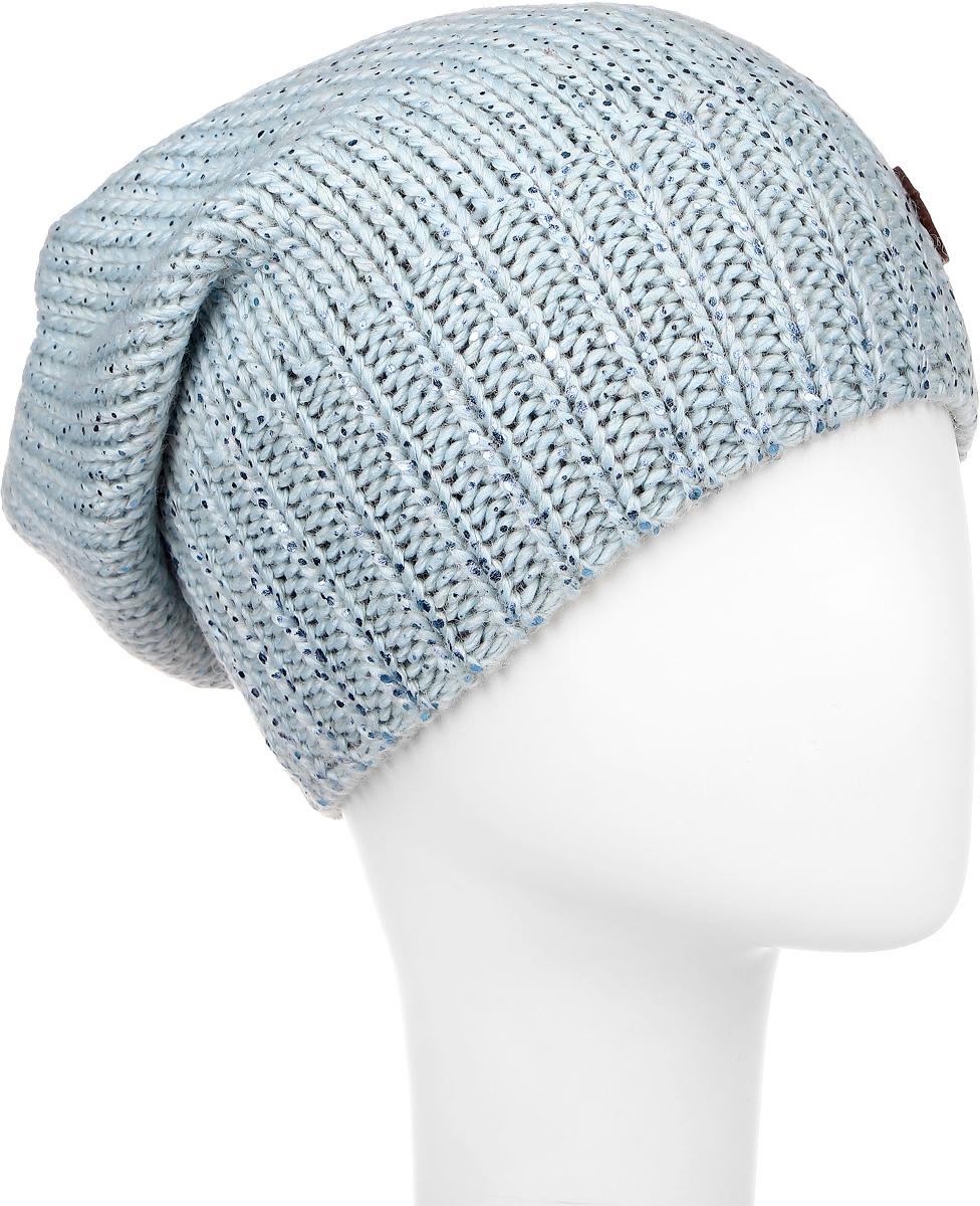 Шапка женская R.Mountain, цвет: голубой. ICE 8500. Размер 54/56ICE 8500Женская шапка R.Mountain изготовлена из шерсти и акрила. Уважаемые клиенты!Размер, доступный для заказа, является обхватом головы.