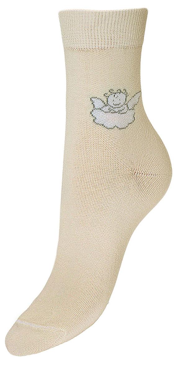 Носки детские Гранд, цвет: кремовый, 2 пары. TCL3. Размер 22/24TCL3Подростковые носки выполнены из высококачественного хлопка, предназначены для повседневной носки. Носки с текстурным рисунком на паголенке ангелочек на облачке хорошо держат форму и обладают повышенной воздухопроницаемостью, имеют безупречный внешний вид, после стирки не меняют цвет, усилены пятка и мысок для повышенной износостойкости, функция отвода влаги позволяет сохранить ноги сухими, благодаря свойствам эластана, не теряют первоначальный вид.Носки долгое время сохраняют форму и цвет, а так же обладают антибактериальными и терморегулирующими свойствами.