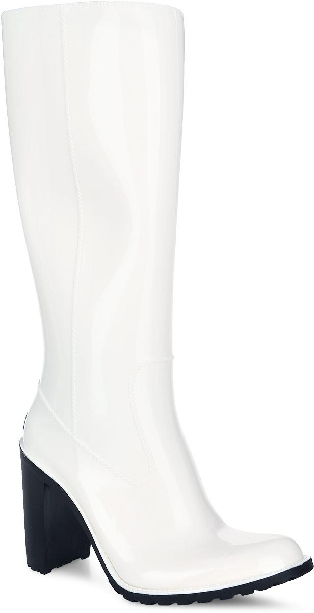 Резиновые сапоги женские Boomboots, цвет: белый. G36/White. Размер 40G36/WhiteРезиновые сапоги на каблуке от Boomboots выполнены из поливинилхлорида. Цельнолитая модель полностью герметична и оформлена ажурными элементами, имитирующими швы. Изделие на застежке-молнии. Стелька изготовлена из вспененного полимера с текстильным покрытием. Задник дополнен логотипом бренда. Подошва оснащена рифлением.