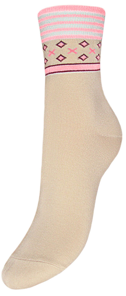 Носки детские Гранд, цвет: бежевый, розовый, 2 пары. YCL22. Размер 22/24YCL22Детские носки выполнены из высококачественного хлопка. Носки имеют безупречный внешний вид, хорошо держат форму и обладают повышенной воздухопроницаемостью, после стирки не меняют цвет, усилены пятка и мысок для повышенной износостойкости, функция отвода влаги позволяет сохранить ноги сухими, благодаря эластану не теряют первоначальные свойства, гребенная пряжа делает изделие приятным на ощупь. Компания Гранд использует только натуральные волокна для изготовления детских носков по всем требованиям медицинских стандартов, что не наносит вреда детской коже.