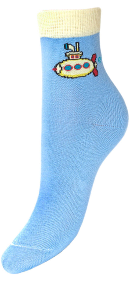 Носки детские Гранд, цвет: голубой, 2 пары. YCL28. Размер 16/18YCL28Детские носки выполнены из высококачественного хлопка. Носки с текстурным рисунком на паголенке подводная лодка хорошо держат форму и обладают повышенной воздухопроницаемостью, имеют безупречный внешний вид, после стирки не меняют цвет, усилены пятка и мысок для повышенной износостойкости, функция отвода влаги позволяет сохранить ноги сухими, благодаря эластану не теряют первоначальные свойства. Компания Гранд использует только натуральные волокна для изготовления детских носков по всем требованиям медицинских стандартов, что не наносит вреда детской коже.