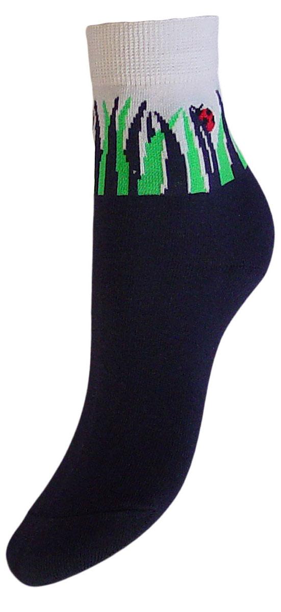 Носки детские Гранд, цвет: синий, 2 пары. YCL33. Размер 16/18YCL33Детские носки выполнены из высококачественного хлопка. Носки с текстурным рисунком на паголенке божья коровка сидит на травке хорошо держат форму и обладают повышенной воздухопроницаемостью, имеют безупречный внешний вид, после стирки не меняют цвет, усилены пятка и мысок для повышенной износостойкости. Носки долгое время сохраняют форму и цвет, а так же обладают антибактериальными и терморегулирующими свойствами.