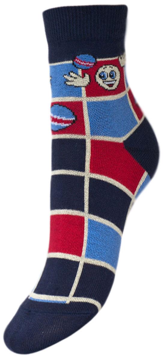 Носки детские Гранд, цвет: синий, 2 пары. YCL35. Размер 16/18YCL35Детские носки выполнены из высококачественного хлопка. Носки с текстурным рисунком квадраты хорошо держат форму и обладают повышенной воздухопроницаемостью, имеют безупречный внешний вид, после стирки не меняют цвет, усиленные пятка и мысок для повышенной износостойкости. Носки долгое время сохраняют форму и цвет, а так же обладают антибактериальными и терморегулирующими свойствами.