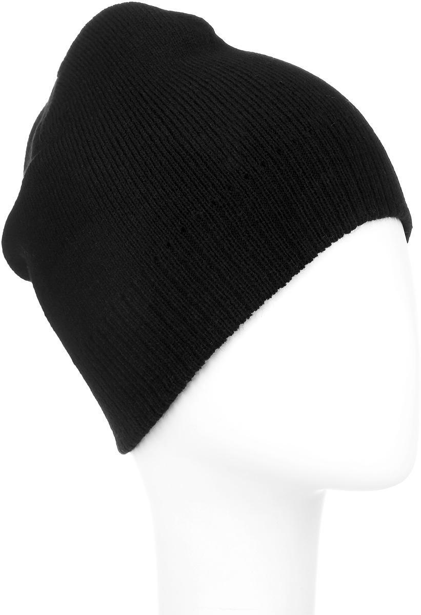 Шапка Ignite, цвет: черный. 304258. Размер 54/56304258Вязаная шапка Ignite идеально подойдет для вас в холодное время года. Изготовленная из акриловой пряжи, она мягкая и приятная на ощупь, обладает хорошими дышащими свойствами и максимально удерживает тепло. Модель плотно облегает голову, благодаря чему надежно защищает от ветра и мороза. Теплая двухслойная шапка понизу связана крупной резинкой.Такой стильный и теплый аксессуар дополнит ваш образ и подчеркнет индивидуальность! Уважаемые клиенты!Размер, доступный для заказа, является обхватом головы.