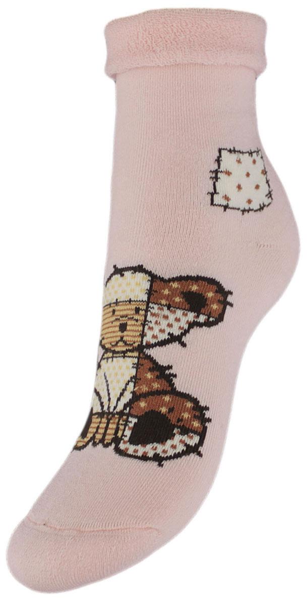 Носки детские Гранд, цвет: розовый, 2 пары. YCL41M. Размер 22/24YCL41MДетские зимние носки выполнены из высококачественного хлопка. Махра отлично сохраняет тепло. Носки с текстурным рисунком плюшевый мишка хорошо держат форму и обладают повышенной воздухопроницаемостью, имеют безупречный внешний вид, после стирки не меняют цвет, усилены пятка и мысок. За счет добавленной лайкры в пряжу, повышена эластичность и срок службы изделия.Носки долгое время сохраняют форму и цвет, а так же обладают антибактериальными и терморегулирующими свойствами.