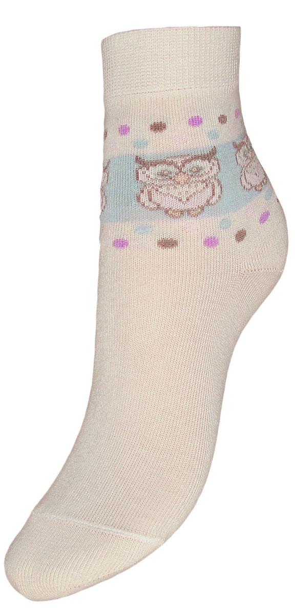 Носки детские Гранд, цвет: кремовый, 2 пары. YCL43. Размер 16/18YCL43Детские носки выполнены из высококачественного хлопка, предназначены для повседневной носки. Носки имеют классический паголенок с рисунком совы и безупречный внешний вид, хорошо держат форму и обладают повышенной воздухопроницаемостью, после стирки не меняют цвет, усилены пятка и мысок. За счет добавленной лайкры в пряжу, повышена эластичность и срок службы изделия.Носки долгое время сохраняют форму и цвет, а так же обладают антибактериальными и терморегулирующими свойствами.