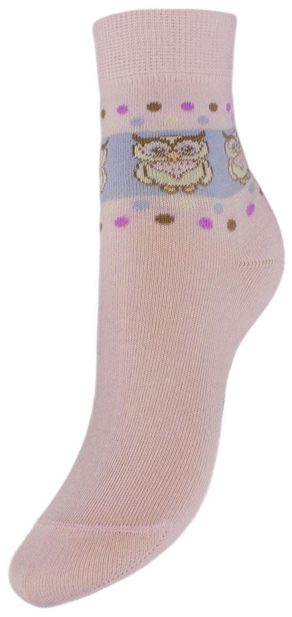 Носки детские Гранд, цвет: розовый, 2 пары. YCL43. Размер 16/18YCL43Детские носки выполнены из высококачественного хлопка, предназначены для повседневной носки. Носки имеют классический паголенок с рисунком совы и безупречный внешний вид, хорошо держат форму и обладают повышенной воздухопроницаемостью, после стирки не меняют цвет, усилены пятка и мысок. За счет добавленной лайкры в пряжу, повышена эластичность и срок службы изделия.Носки долгое время сохраняют форму и цвет, а так же обладают антибактериальными и терморегулирующими свойствами.