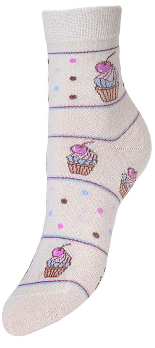Носки детские Гранд, цвет: белый, 2 пары. YCL45. Размер 16/18YCL45Детские носки выполнены из высококачественного хлопка, предназначены для повседневной носки. Носки с текстурным рисунком по всему носку пирожное с вишней имеют бесшовную технологию зашивки мыска (кеттельный шов), безупречный внешний вид, хорошо держат форму и обладают повышенной воздухопроницаемостью, после стирки не меняют цвет, усилены пятка и мысок. За счет добавленной лайкры в пряжу, повышена эластичность и срок службы изделия.Носки долгое время сохраняют форму и цвет, а так же обладают антибактериальными и терморегулирующими свойствами.
