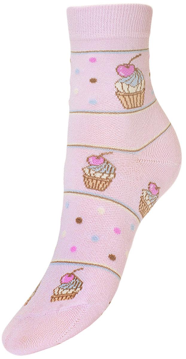 Носки детские Гранд, цвет: розовый, 2 пары. YCL45. Размер 20/22YCL45Детские носки выполнены из высококачественного хлопка, предназначены для повседневной носки. Носки с текстурным рисунком по всему носку пирожное с вишней имеют бесшовную технологию зашивки мыска (кеттельный шов), безупречный внешний вид, хорошо держат форму и обладают повышенной воздухопроницаемостью, после стирки не меняют цвет, усилены пятка и мысок. За счет добавленной лайкры в пряжу, повышена эластичность и срок службы изделия.Носки долгое время сохраняют форму и цвет, а так же обладают антибактериальными и терморегулирующими свойствами.