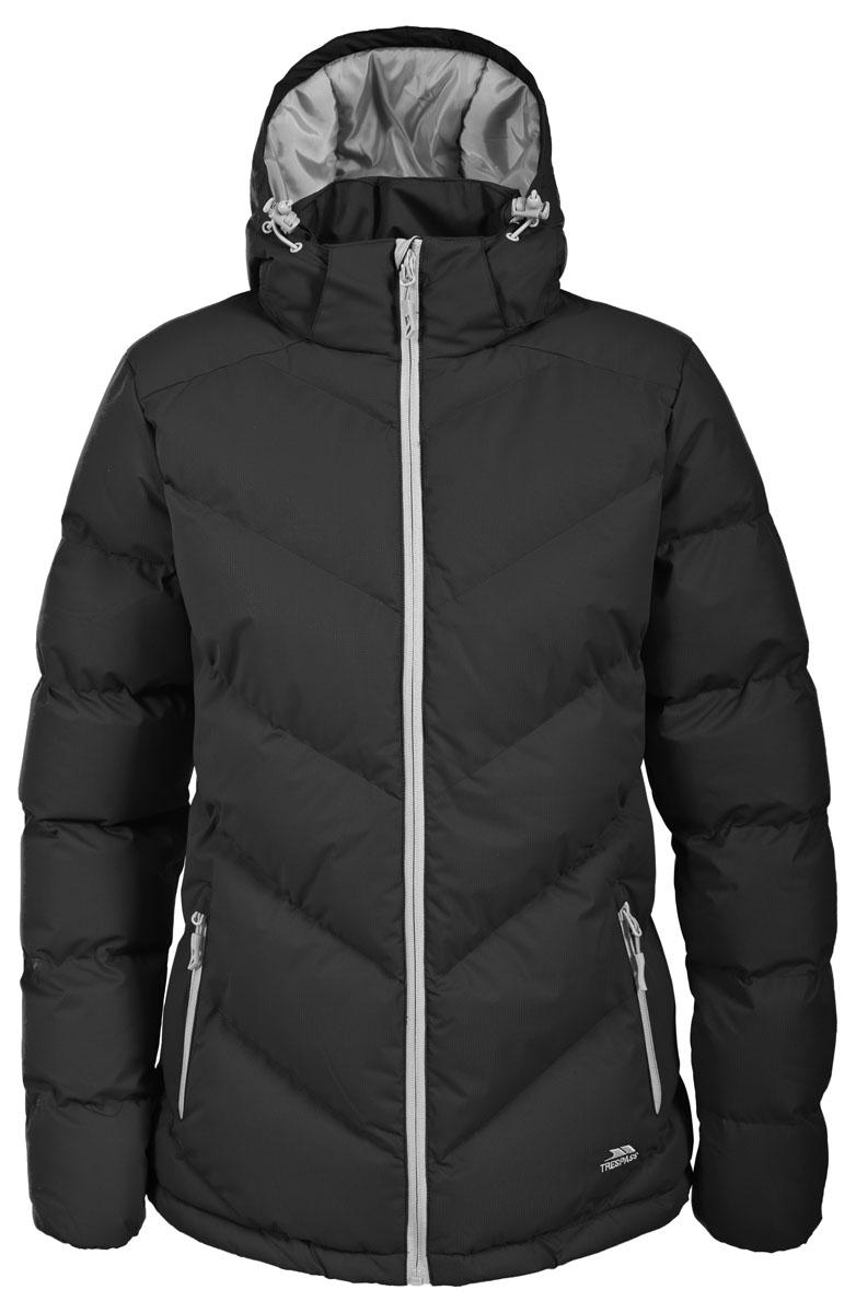 Куртка женская Trespass Sitka, цвет: черный. FAJKCAL20001. Размер M (46)FAJKCAL20001Великолепная теплая куртка для русской зимы Trespass Sitka выполнена в спортивном стиле. Утеплитель ColdHeat 360 г/м2 (синтетический, микроволоконный с функцией быстрого отвода влаги и высоким уровнем теплозащиты и износостойкости). Каждый простроченный шов от иглы оставляет сотни отверстий, через которые влага может проникать внутрь куртки. Применение технологии Taped Seams - обработка швов термо-пластичесткой лентой под высоким давлением - запечатывает швы, тем самым препятствуя проникновению влаги внутрь куртки, дополнительно обеспечивая Вашему телу сухость и комфорт. Материал верха защищает от влаги (влагозащита - 5 000мм) и имеет дополнительное усиление от разрыва. Утепленный регулируемый капюшон. Прекрасно подойдет как для города, так и для отдыха на природе.