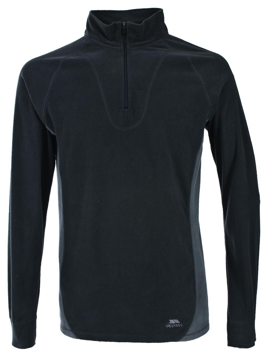 Термобелье Trespass Thriller: кофта, брюки, цвет: черный. UABLSEF20001. Размер XL (54)UABLSEF20001Комплект термобелья Trespass Thriller изготовлен из полиэстера и дополнен короткой молнией. Он обеспечивает отвод лишней влаги, сохраняет тело сухим. Отлично подходит для занятия спортом.