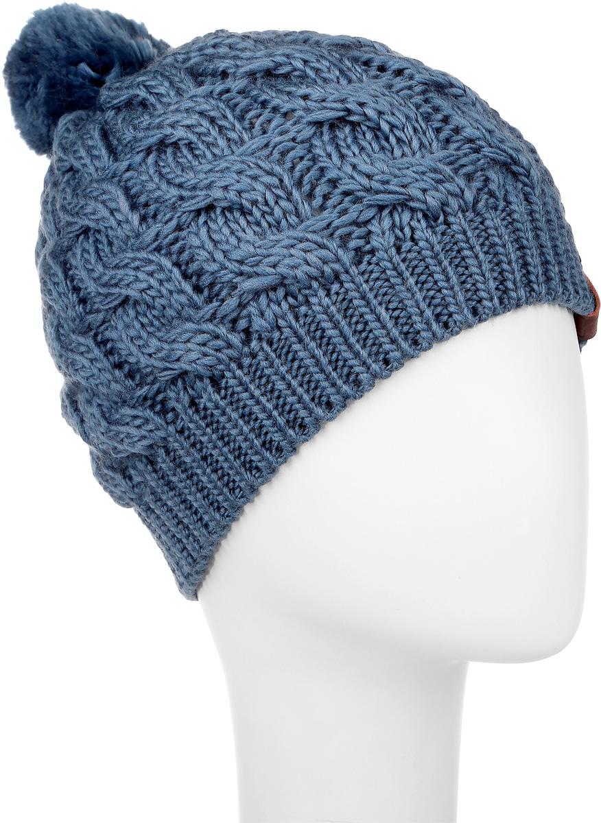 Шапка женская Marhatter, цвет: джинс. 3623. Размер 56/583623Вязаная женская шапка Snezhna идеально подойдет для вас в холодное время года. Изготовленная из шерсти и акрила, она мягкая и приятная на ощупь, обладает хорошими дышащими свойствами и максимально удерживает тепло. Шапка плотно облегает голову, благодаря чему надежно защищает от ветра и мороза.Шапка оформлена крупным вязаным узором, а также на макушке дополнена небольшим помпоном.Такой стильный и теплый аксессуар дополнит ваш образ и подчеркнет индивидуальность!Уважаемые клиенты!Размер, доступный для заказа, является обхватом головы.