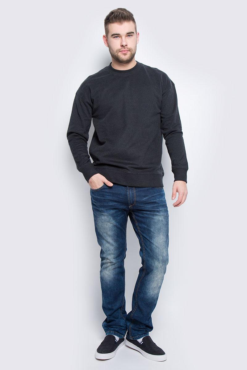 Свитшот мужской Selected Homme, цвет: черно-синий. 16051446. Размер XL (50)16051446_CaviarСтильный мужской свитшот Selected Homme, изготовленный из натурального хлопка, мягкий и приятный на ощупь, не сковывает движений и обеспечивает наибольший комфорт.Модель с круглым вырезом горловины и длинными рукавами выполнена в лаконичном стиле. Манжеты рукавов, горловина и низ изделия дополнены трикотажными резинками.