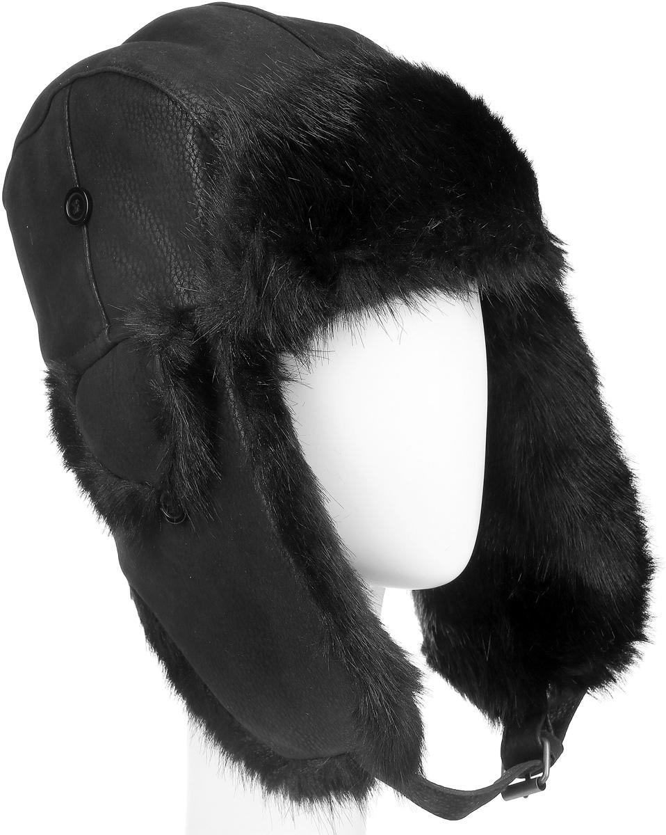 Шапка-ушанка Ignite, цвет: черный. B-9068. Размер M (57)B-9068Удобная и теплая шапка-ушанка с отделкой из искусственного меха Ignite - великолепный головной убор на зиму. Такое изделие, несомненно, понравится и поможет создать всегда актуальный образ.Свойство ушанки сохранять тепло лежит в функциональной конструкции и деталях, плотно закрывающих лоб и уши. Модель оснащена застежкой-пряжкой.Уважаемые клиенты!Размер, доступный для заказа, является обхватом головы.