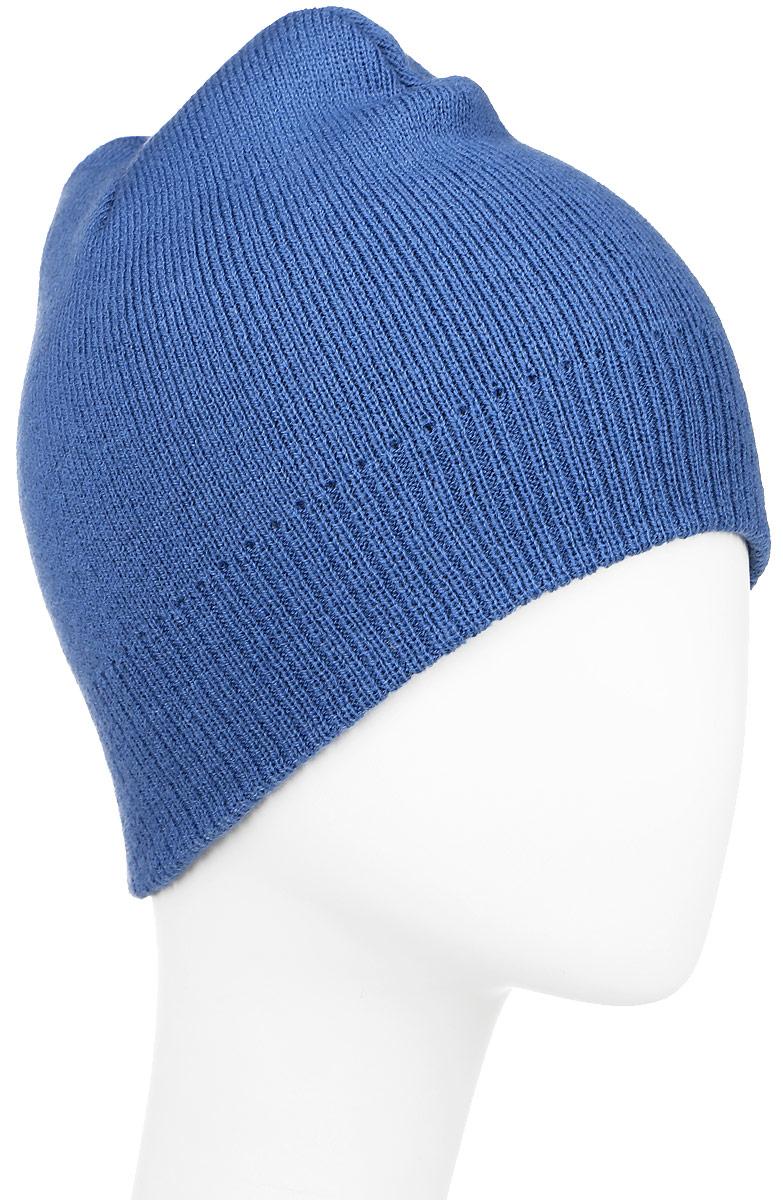 Шапка Ignite, цвет: синий. 304258. Размер 54/56304258Вязаная шапка Ignite идеально подойдет для вас в холодное время года. Изготовленная из акриловой пряжи, она мягкая и приятная на ощупь, обладает хорошими дышащими свойствами и максимально удерживает тепло. Модель плотно облегает голову, благодаря чему надежно защищает от ветра и мороза. Теплая двухслойная шапка понизу связана крупной резинкой.Такой стильный и теплый аксессуар дополнит ваш образ и подчеркнет индивидуальность! Уважаемые клиенты!Размер, доступный для заказа, является обхватом головы.