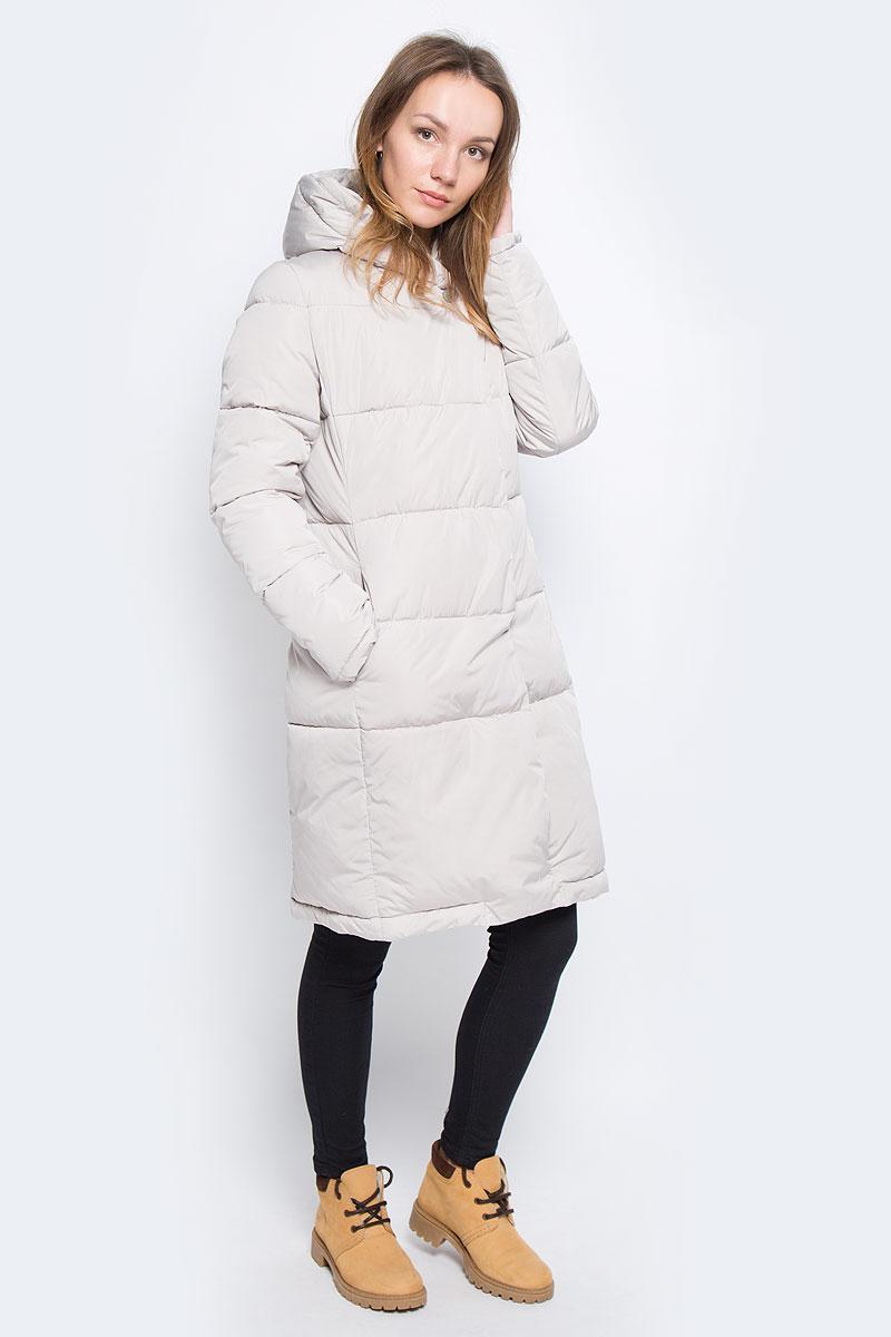 Пальто женское Grishko, цвет: бежевый. AL-2966. Размер M (46)AL-2966Женское пальто Grishko с длинными рукавами и несъемным капюшоном выполнено из полиамида. Наполнитель - синтепон.Куртка застегивается на застежку-молнию спереди и имеет ветрозащитный клапан на кнопках. Изделие оснащено двумя втачными карманами на застежках-молниях спереди. Объем низа регулируется при помощи шнурка-кулиски. Теплоизоляция до -20°С.