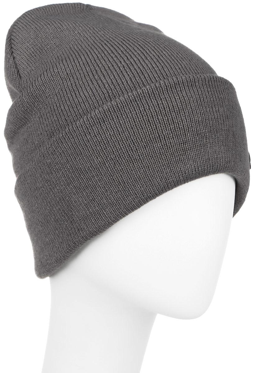 Шапка Ignite, цвет: темно-серый. 016 CUFF. Размер 54/56016 CUFFТеплая шапка Ignite выполнена из высококачественного акрила. Шапка с отворотом оформлена в лаконичном однотонном стиле и дополнена оригинальными нашивками с логотипом бренда. Уважаемые клиенты!Размер, доступный для заказа, является обхватом головы.
