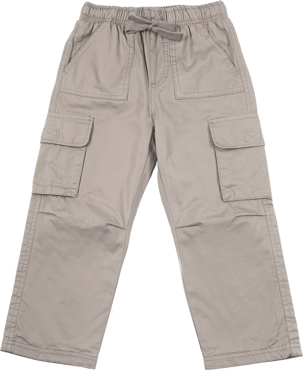 Брюки для мальчика Sela, цвет: темно-бежевый. P-715/777-6414. Размер 104, 4 годаP-715/777-6414Брюки для мальчика Sela изготовлены из натурального хлопка и имеют мягкую подкладку из полиэстера с добавлением хлопка.Прямые брюки имеют широкую эластичную резинку на поясе. Обхват талии регулируется шнурком-кулиской. Модель дополнена двумя накладными карманами и двумя открытыми накладными карманами с клапанами на липучках спереди. Изделие оформлено имитацией ширинки.