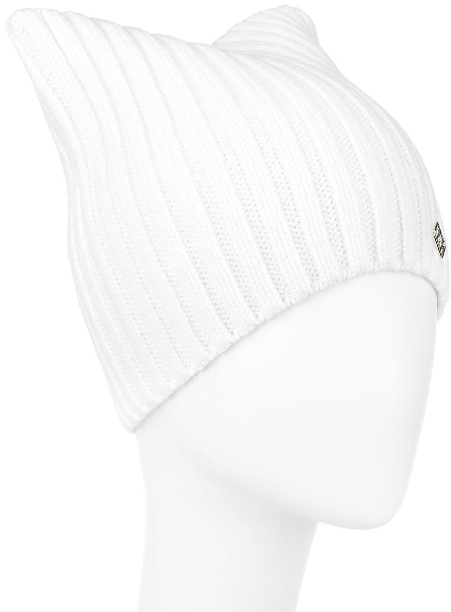 Шапка женская Finn Flare, цвет: белый. W16-32129_201. Размер 56W16-32129_201Вязаная женская шапка Finn Flare отлично подойдет для модниц в холодное время года. Изготовленная из шерсти и акрила, она мягкая и приятная на ощупь, обладает хорошими дышащими свойствами и максимально удерживает тепло.Модель квадратной формы связана резинкой и украшена небольшой металлической пластиной с названием бренда.Такая шапка не только теплый головной убор, но и стильный аксессуар. Она подчеркнет ваш образ и индивидуальность!Уважаемые клиенты!Размер, доступный для заказа, является обхватом головы.